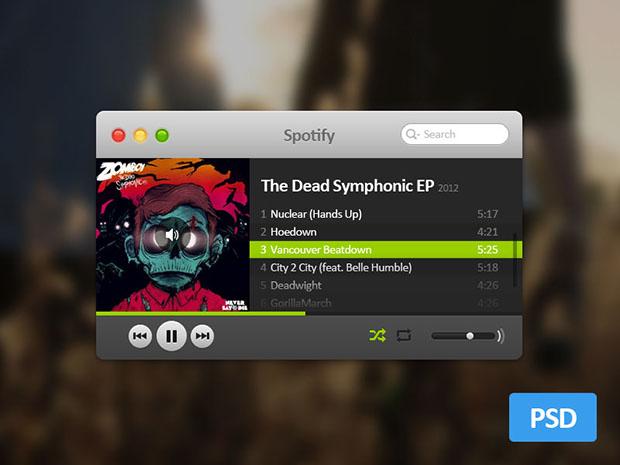 Mini-Spotify-PSD