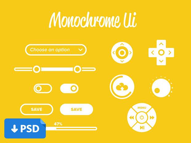 Monochrome-Ui-Design-practice