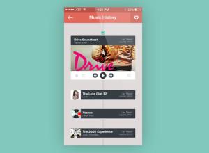 Music-App-History-Screen-Freebie