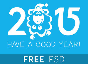 New-Year-2015-Illustration-Free-PSD