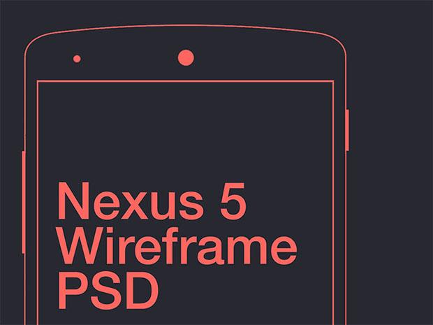 Nexus-5-Wireframe-PSD