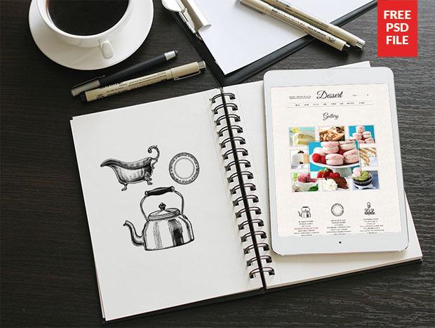 NoteBook-iPad-Mockup