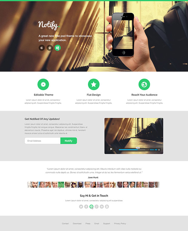 Notify-Free-PSD-HTML-Design