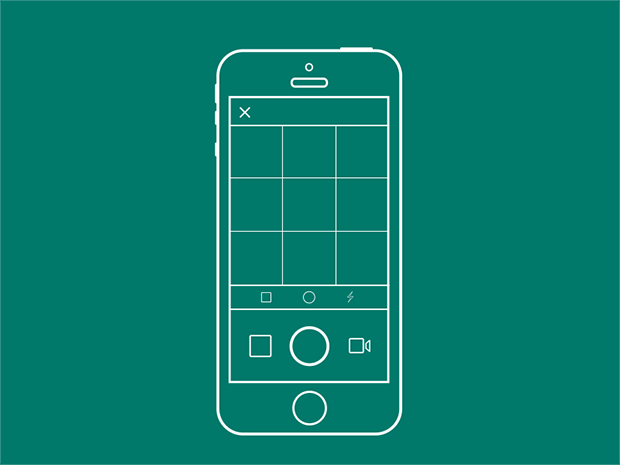 Outlines iPhone-with-Instagram-PSD
