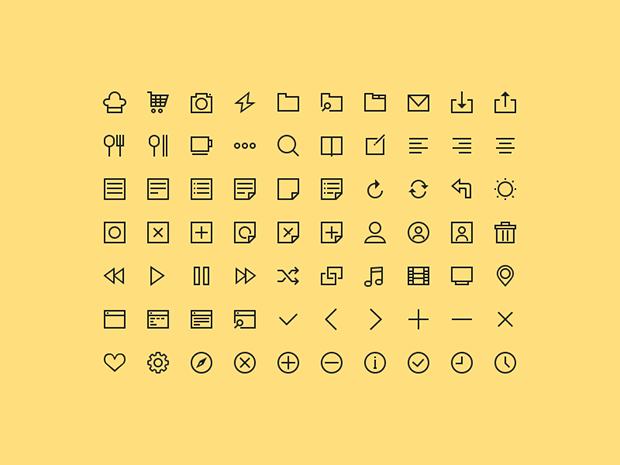 PSD-Freebie-70-Simple-Icons
