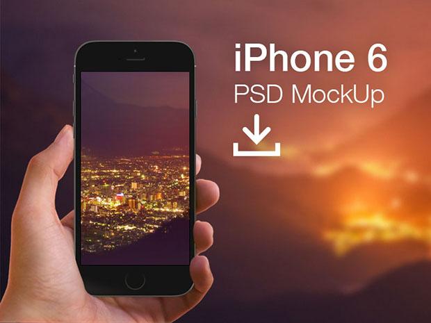 PSD-mockup-of-iPhone-6