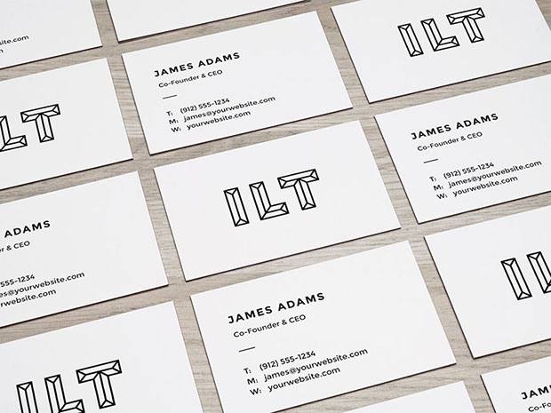 Perspective-Business-Cards-Mockup