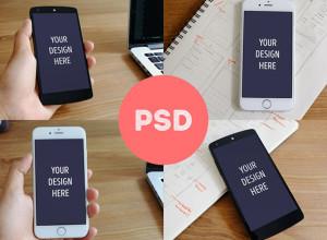 Photorealistic-iPhone-6-&-Nexus-5-mockups