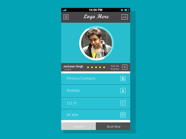 Profile Screen For Mobile App Free PSD | Free Download PSD