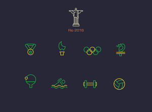 Rio-2016-Olympics-line-Icons
