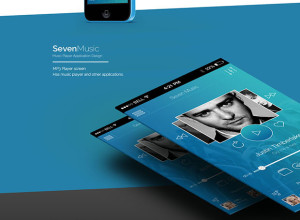 Seven-Music-Music-Player-Application-Design