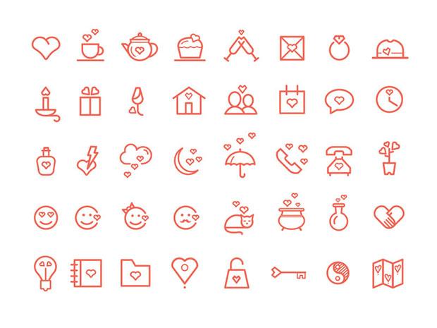 St-Valentines-Day-icon-set