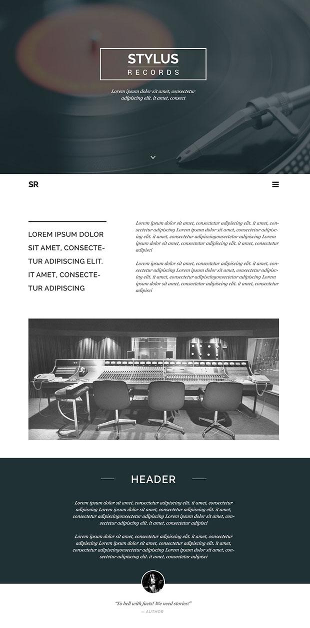 Stylus-Free-PSD-Homepage-Design