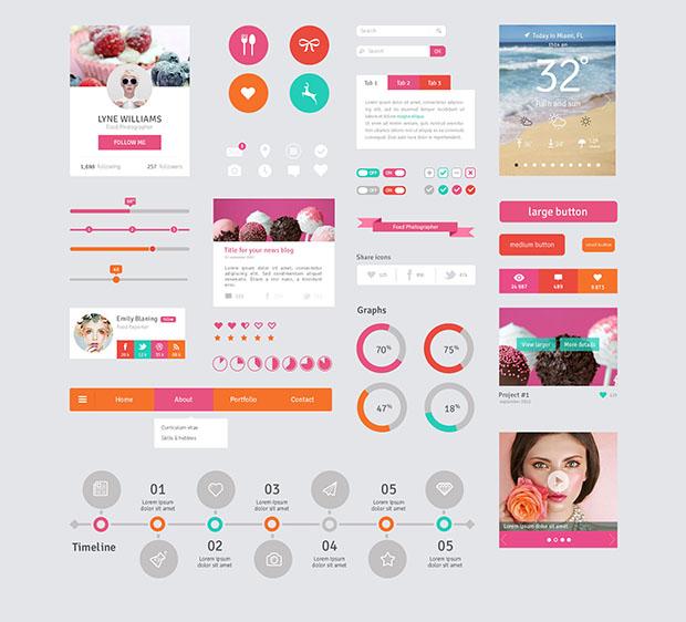 User-Interface-Elements-Flat-Design