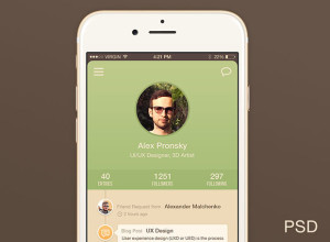 User-Profile-iPhone-6-App-UI-Freebie-PSD