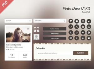 Vinta-Dark-Ui-Kit-Free-Psd