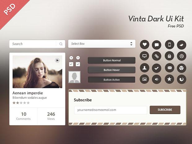 Vinta-Dark-Ui-Kit-Free-Psd