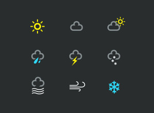 weather-icons-free-psd