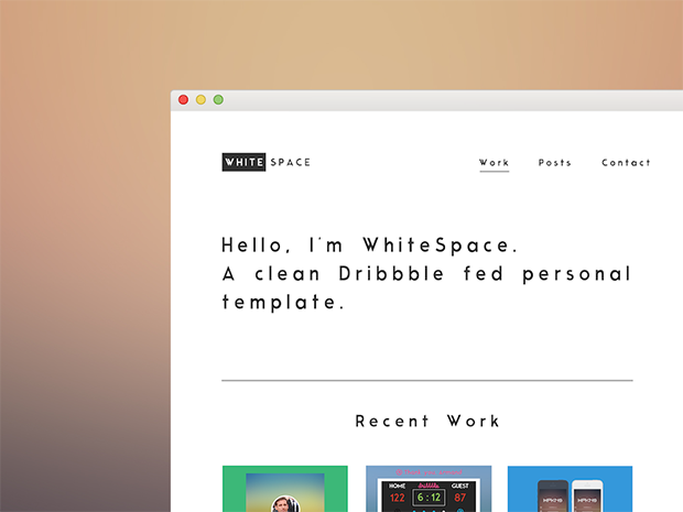 White-Space-Theme-PSD