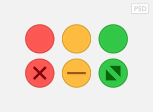 Yosemite-Traffic-light-Buttons-PSD