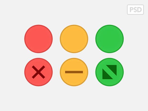Yosemite-Traffic-light-Buttons-PSD