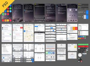 iOS-8-UI-free-PSD