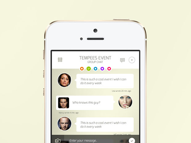 iOS Chat Screen Freebie | Free Download PSD | DLPSD