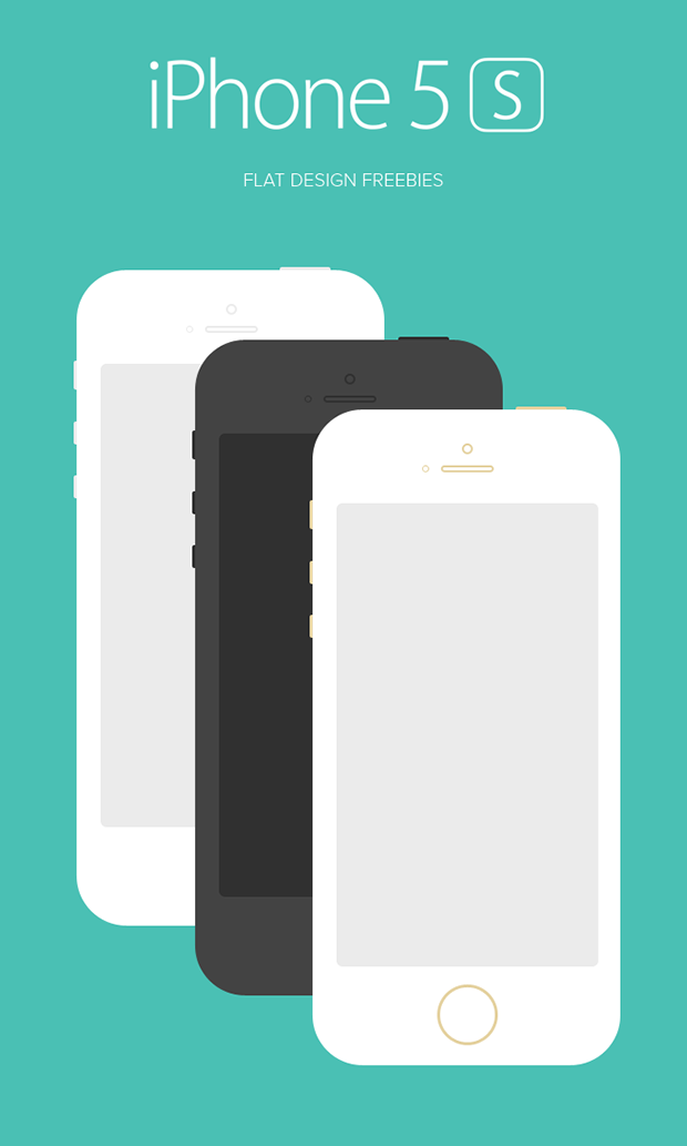 iPhone-5S-Flat-Design