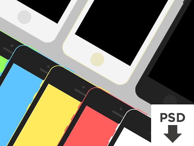 iPhone-5s-5c-Flat-Template