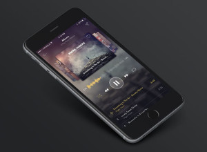 iPhone-6-Music-App-Design-Free-PSD