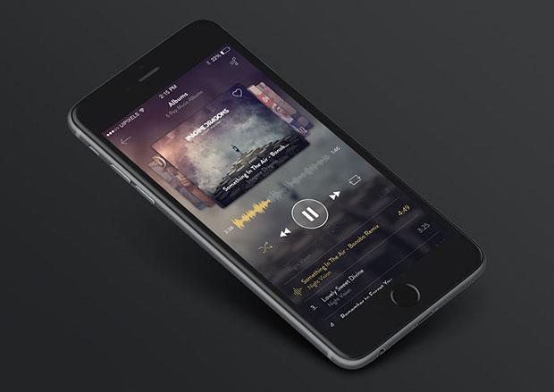 iPhone-6-Music-App-Design-Free-PSD