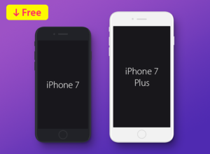 iphone-7-iphone-7-plus-flat-mockup-free