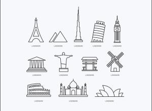 12-Free-Landmark-Icons