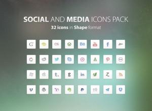 32-Social-&-Media-Free-PSD