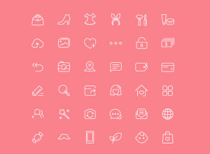 36-Chic-Female-Icons-PSD