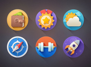 6-Flat-Icons-Shadow-Free-PSD