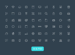 60-Modern-Vector-Line-Icons