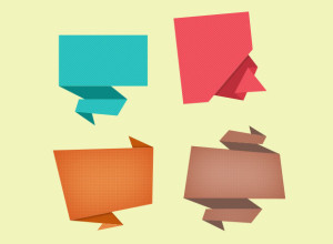 Abstract-Origami-Speech-Bubble-Icon