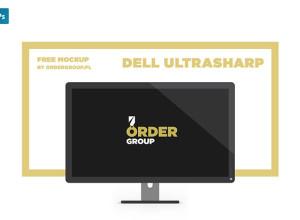 Dell-UltraSharp-Free-Mockup