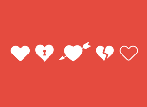 five-heart-icons