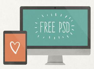 Flat-Scratchy-Screen-PSD-Freebie