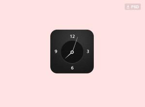 Free-Clock-Icon-Psd
