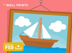Free-PSD-Simpson-Painting-of-a-Boat