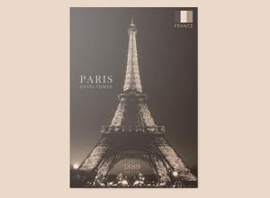 free-paris-eiffel-tower-poster-layered-editable-psd