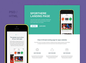 Freebie-SportHere-Template