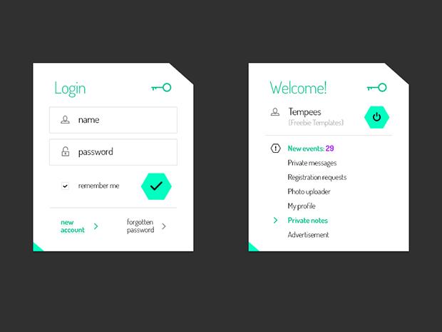 Login-and-user-profile-boxes-Freebie