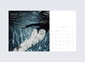 Minimal-Calendar-with-weather-PSD