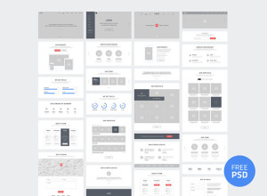One-Page-Website-Wireframes