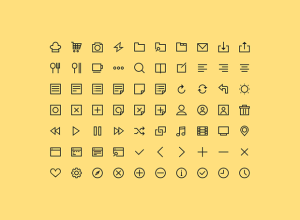 PSD-Freebie-70-Simple-Icons