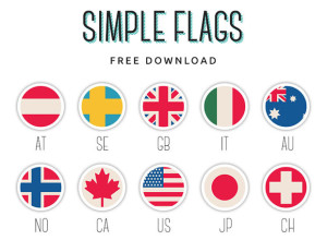Simple-Flags-Free-PSD